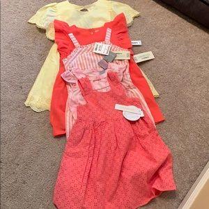 5 girls dresses NWT